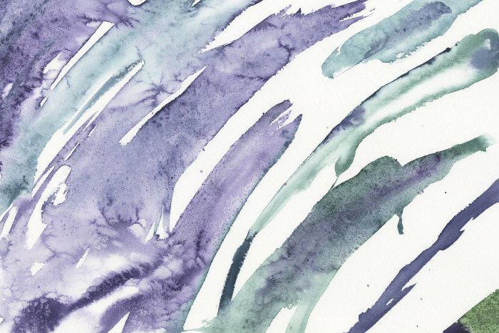 Purple and blue brushstroke painting by artist Julie Silver