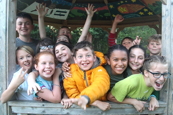 kids enjoying URJ Camp Kalsman
