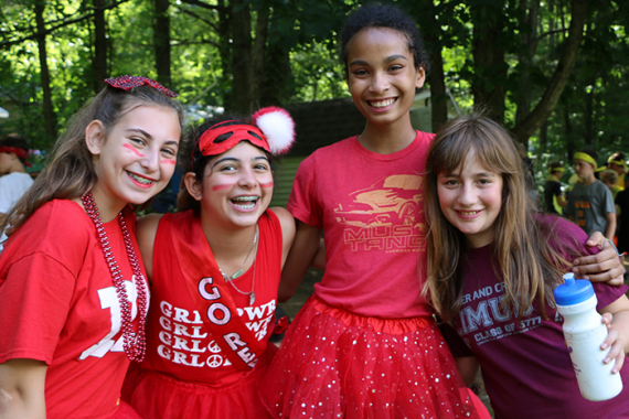 campers enjoying color war at Camp Eisner