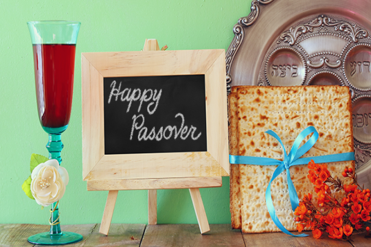 Happy Passover Chalkboard